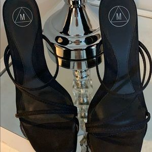 Missguided Shoes - Black Strappy Sandals